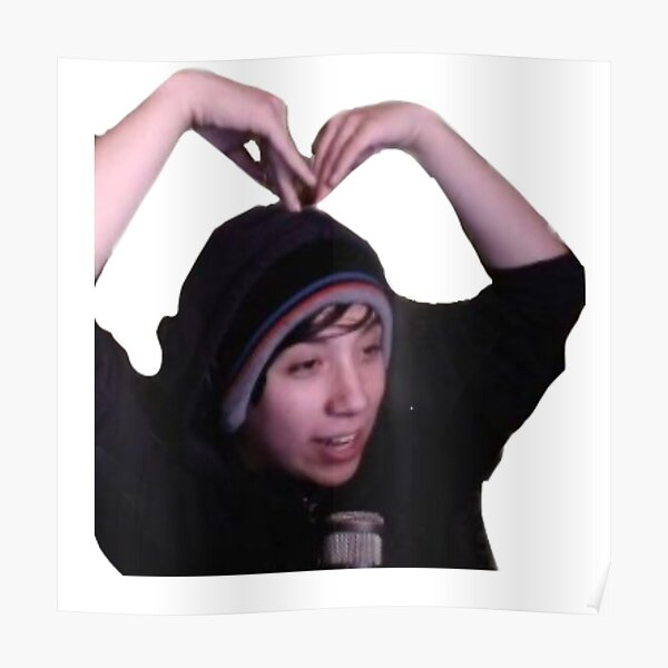Quackity heart Poster RB2905 product Offical Quackity Merch