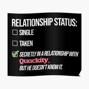 Relationship with Quackity Poster RB2905 product Offical Quackity Merch