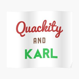 Quackity And Karl  Poster RB2905 product Offical Quackity Merch