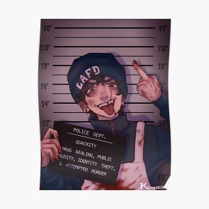 Quackity Mugshot Poster RB2905 product Offical Quackity Merch