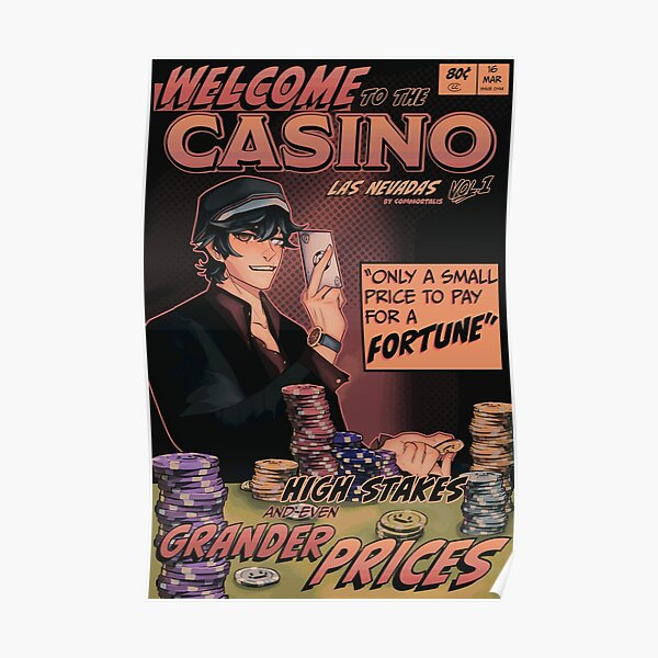 Quackity Casino Dream SMP Las Nevadas Comic Poster Poster RB2905 product Offical Quackity Merch