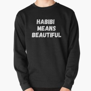 Habibi Means Beautiful - Quackity Beanie - Bold White  Pullover Sweatshirt RB2905 product Offical Quackity Merch