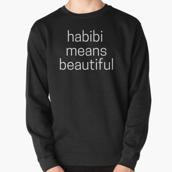 Habibi Means Beautiful - Quackity Beanie - Black Pullover Sweatshirt RB2905 product Offical Quackity Merch