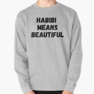 Habibi Means Beautiful - Quackity Beanie - bold black Pullover Sweatshirt RB2905 product Offical Quackity Merch