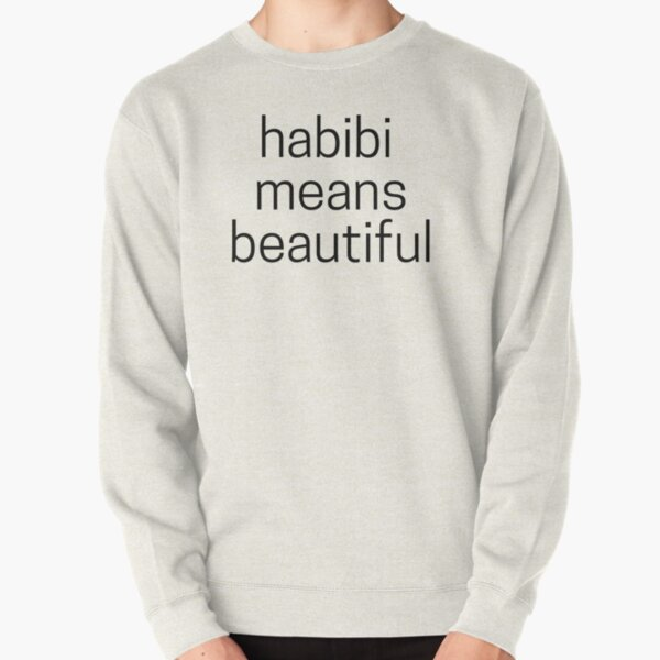Habibi Means Beautiful - Quackity Beanie - white Pullover Sweatshirt RB2905 product Offical Quackity Merch