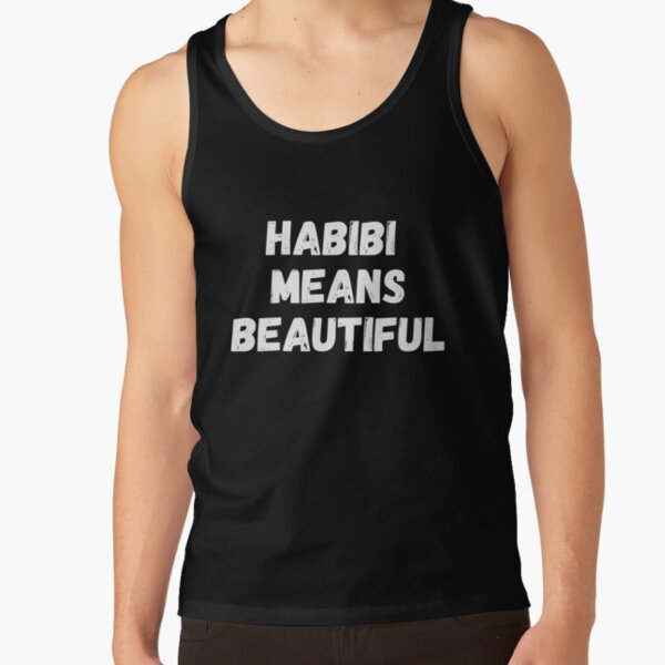 Habibi Means Beautiful - Quackity Beanie - Bold White  Tank Top RB2905 product Offical Quackity Merch