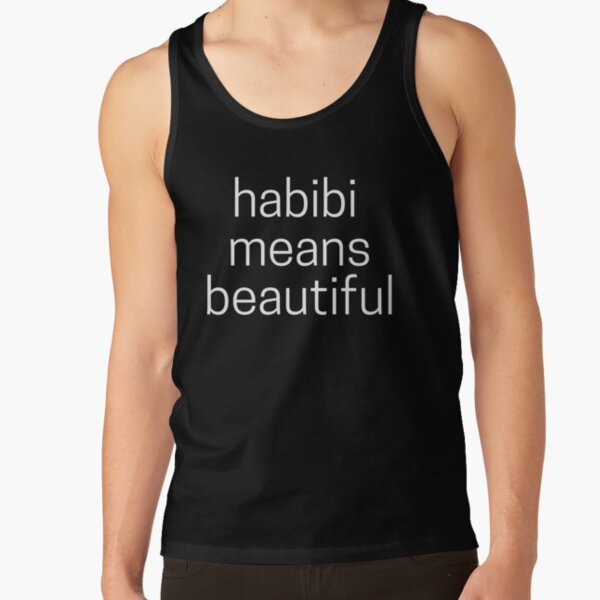 Habibi Means Beautiful - Quackity Beanie - Black Tank Top RB2905 product Offical Quackity Merch