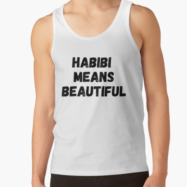 Habibi Means Beautiful - Quackity Beanie - bold black Tank Top RB2905 product Offical Quackity Merch