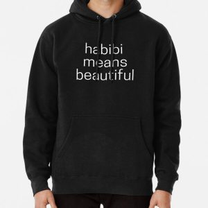 Habibi Means Beautiful - Quackity Beanie - Black Pullover Hoodie RB2905 product Offical Quackity Merch