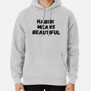 Habibi Means Beautiful - Quackity Beanie - bold black Pullover Hoodie RB2905 product Offical Quackity Merch