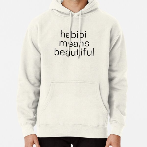 Habibi Means Beautiful - Quackity Beanie - white Pullover Hoodie RB2905 product Offical Quackity Merch
