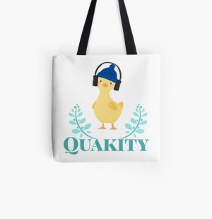Quackity artist design All Over Print Tote Bag RB2905 product Offical Quackity Merch
