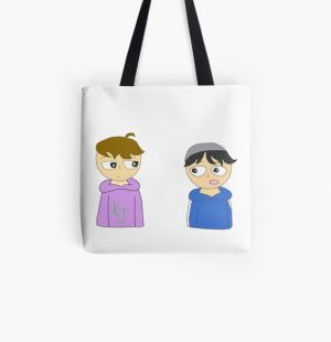 quackity and karl animation All Over Print Tote Bag RB2905 product Offical Quackity Merch