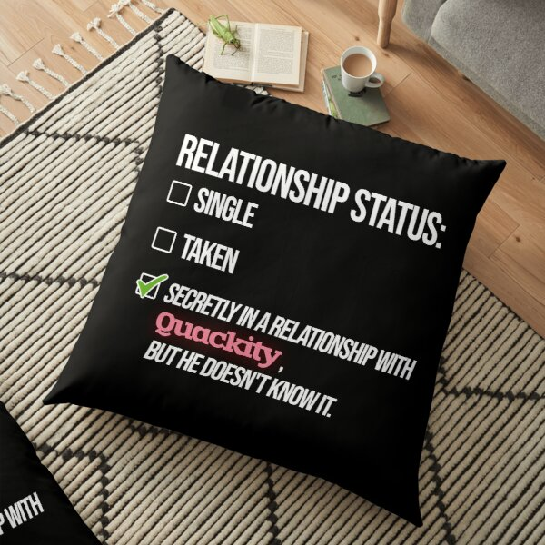 Relationship with Quackity Floor Pillow RB2905 product Offical Quackity Merch