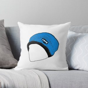 Quackity Beanie Throw Pillow RB2905 product Offical Quackity Merch