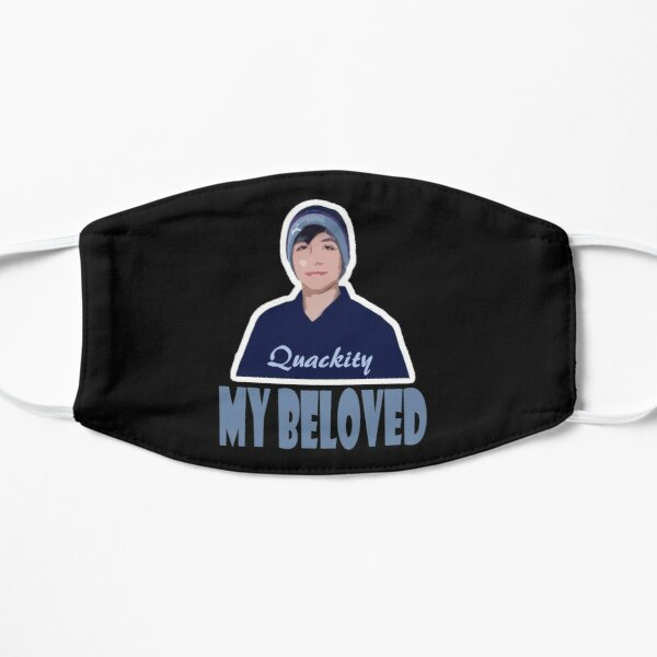 quackity my beloved Flat Mask RB2905 product Offical Quackity Merch