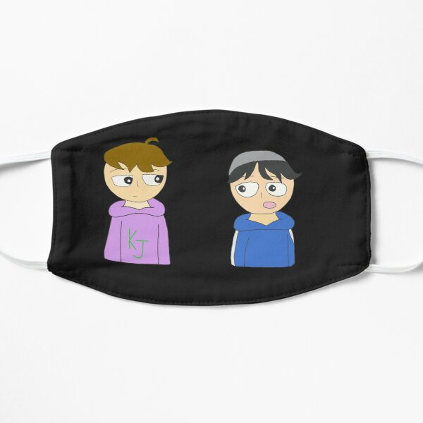 quackity and karl animation Flat Mask RB2905 product Offical Quackity Merch
