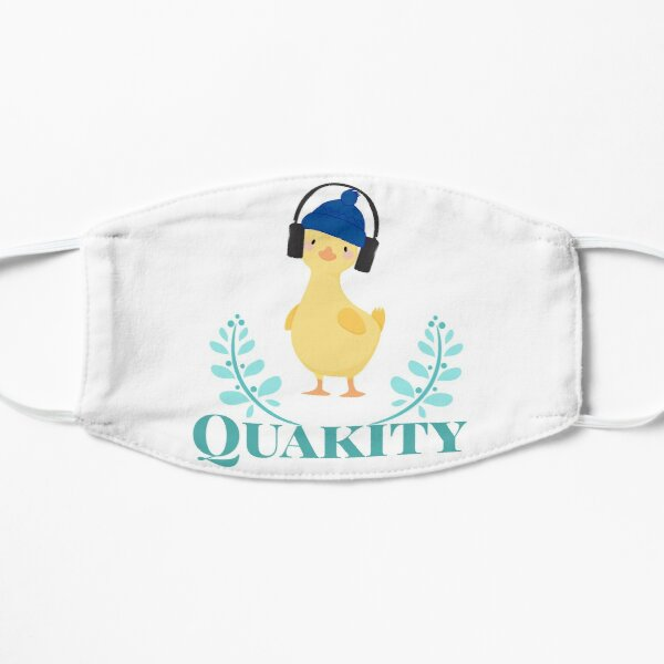Quackity artist design Flat Mask RB2905 product Offical Quackity Merch