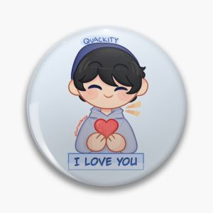 Quackity! (I Love you) Pin RB2905 product Offical Quackity Merch