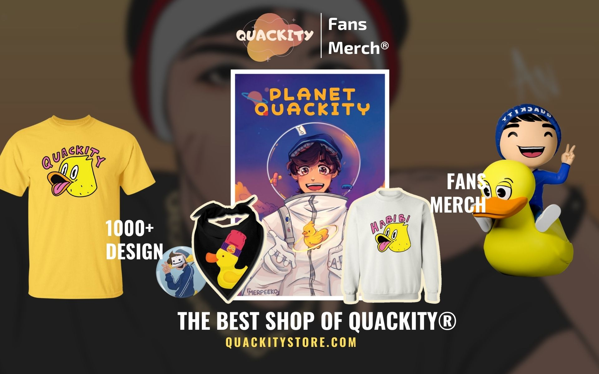 Quackity Merch Web Banner - Quackity Store